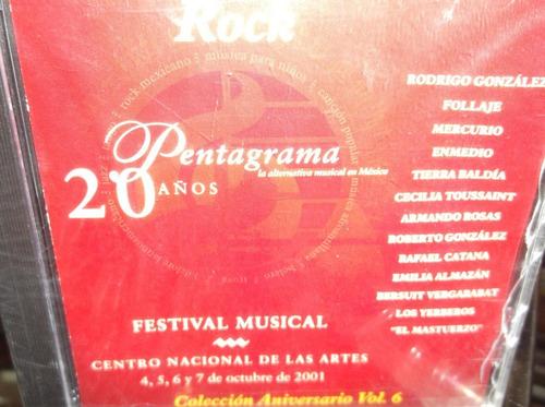 pentagrama 20 años festival musical rock vol.6 cd sellado