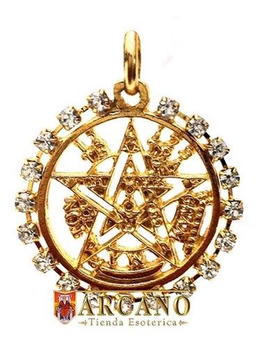 pentagrama-alta proteccion en chapa de oro y zirconias