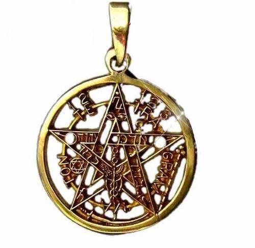 pentagrama de oro 14k / se te manda consagrado y ritualizado