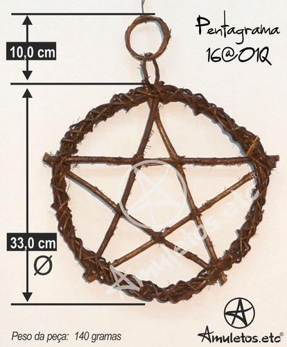 pentagrama em cipó wicca 16@01q