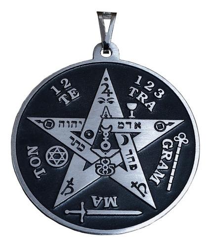 pentagrama em metal ( helena blavatsky, esoterismo, magia )