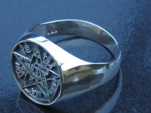 pentagrama en anillo de plata el mejor terminado del mercado