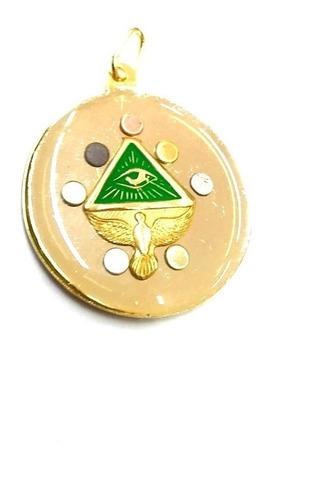 pentagrama esotérico verde reforzado con los 7 metales