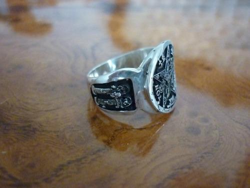 pentagrama masonico en pentagr de plata,  el mejor terminado