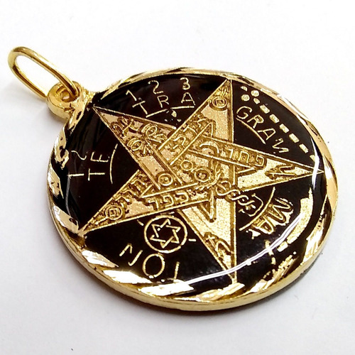 pentagrama o tetragrammatón ritualizado 7 metales visibles