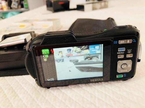 pentax optio wg-1 14 mpx + 5 baterías cámara contra agua