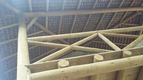 pente de piaçava antichama, taubilha telha de madeira