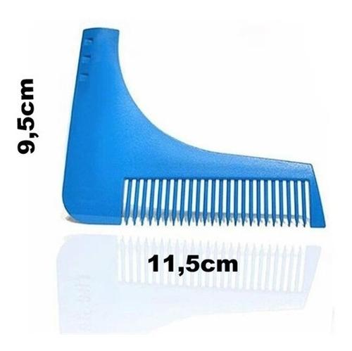 pente régua para barba modeladora bigode aparador alinhador
