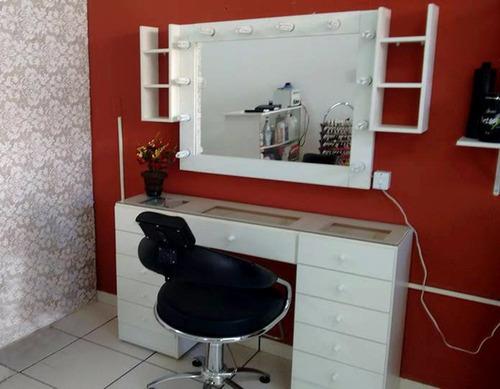 penteadeira camarim 11 gavetas 100% mdf branco com 2 nichos