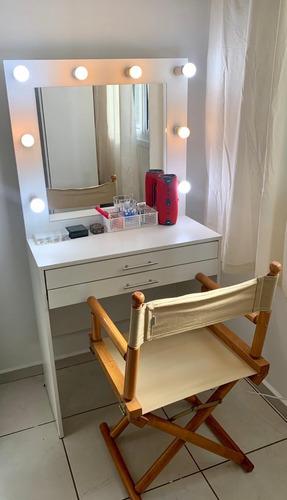 penteadeira camarim com espelho fiação pronta montagem fácil