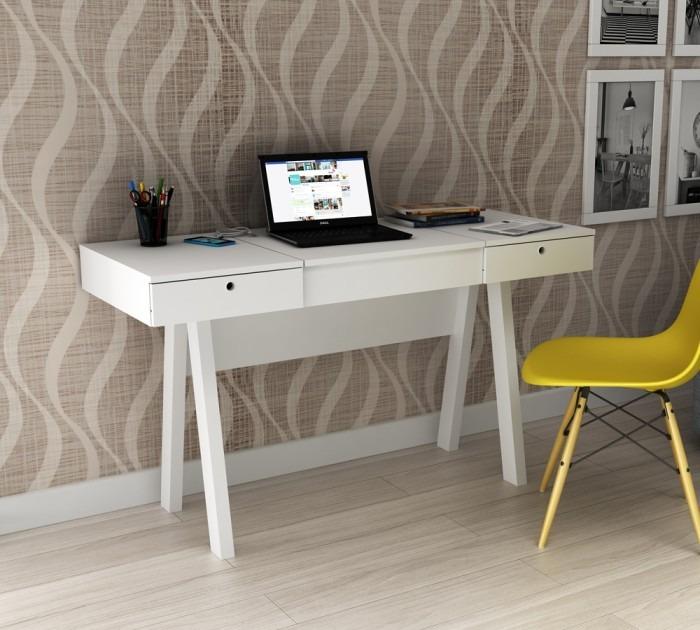 Penteadeira escrivaninha com espelho branco frete barato for Mobili quarto