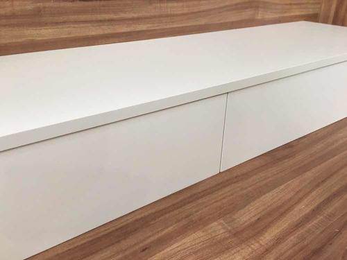 penteadeira suspensa escrivaninha mdf 100x20x40cm