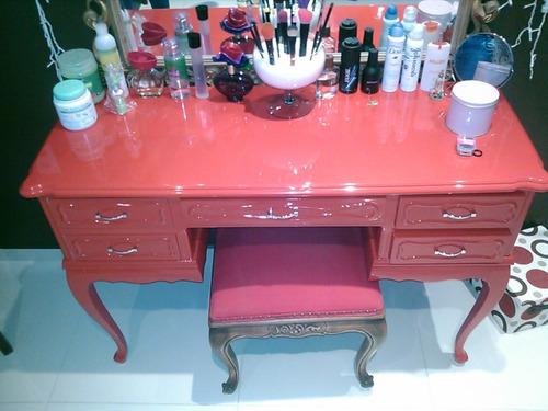 penteadeira vermelha linda - móvel antigo reformado