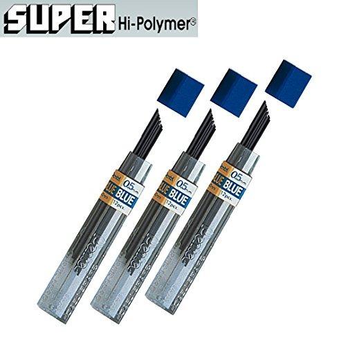 pentel plomo recargas 0,5 mm azul, de 12 cables por tubo pa