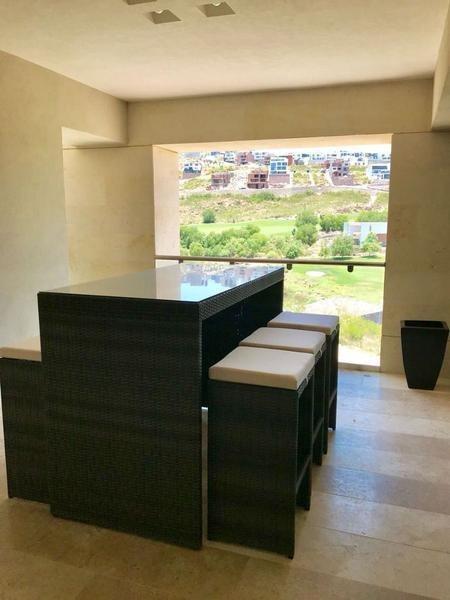 penthouse amueblado en renta en club de golf la loma  slp