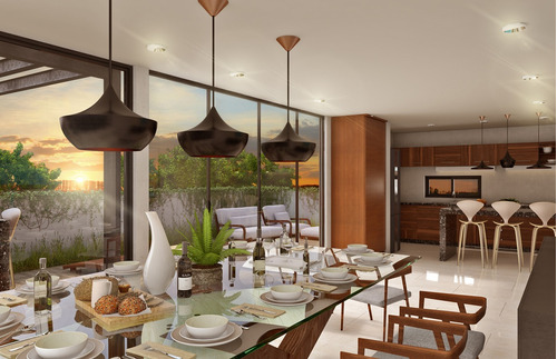 penthouse boreal de luxe en privada norden 48, temozon norte.