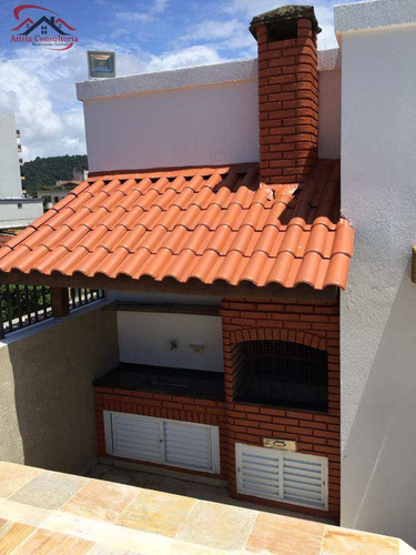 penthouse com 3 dorms, enseada, guarujá - r$ 540 mil, cod: 808 - v808