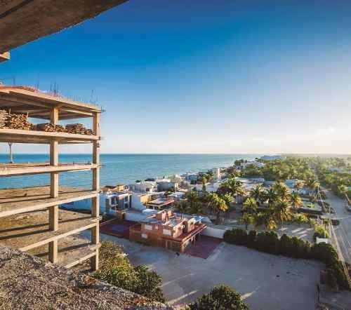 penthouse de lujo en venta en chicxulub, edificio marola frente al mar