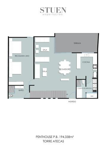 penthouse en renta, col. monraz, guadalajara jalisco.