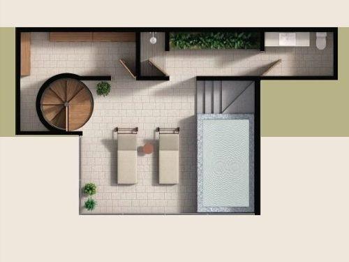 penthouse en venta en aldea zama, tulum