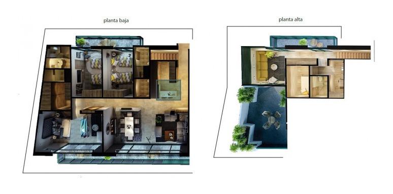 penthouse en venta en  park luxe lomas de a sd-1744