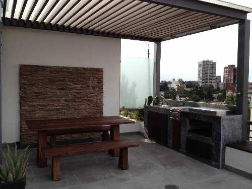 penthouse + terraza en venta en col. condesa, ometusco