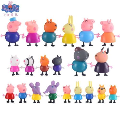 peppa pig 21 bonecos família e amigos coleção