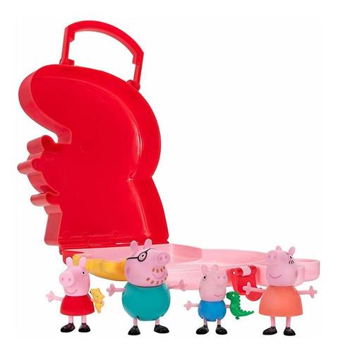 peppa pig 4 figure de almacenamiento en estuche.