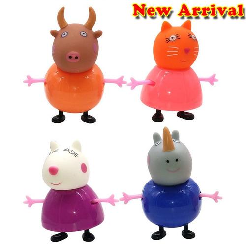 peppa pig  4 personagens novos coleção