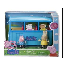 Peppa Pig Autobus Escolar Con 2 Figuras Sonido 6708