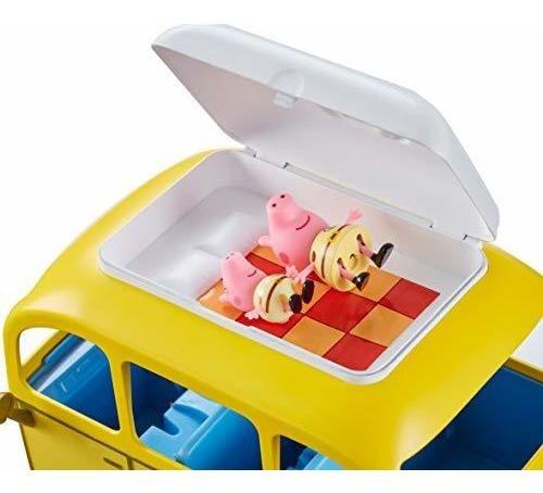 peppa pig camper van con tienda y 4 personajes, ppc46 multic