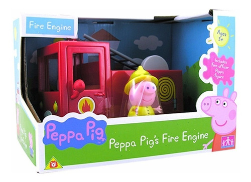 peppa pig - carro bomberos pequeños vehículos