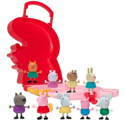 peppa pig carry along friends - 10 piezas