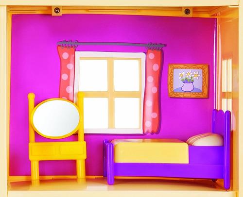 peppa pig casa de familia playset con luces y sonido
