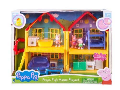 peppa pig - casa delux família c/ peppa, suzy e george