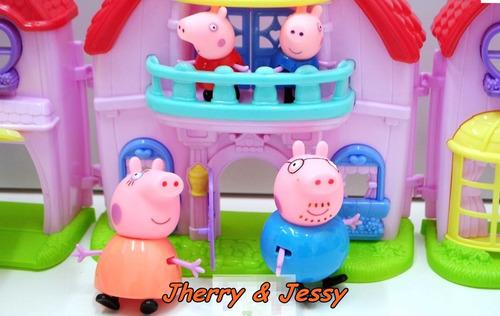 peppa pig casa e família peppa pig c/ luzes e música