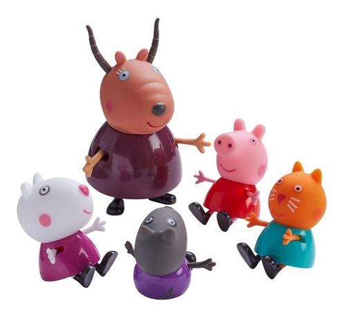 peppa pig - classroom 5 figuras