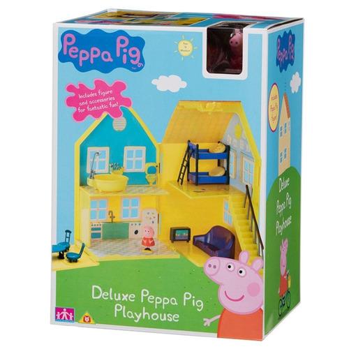 peppa pig! deluxe play house casa con peppa y george nuevo