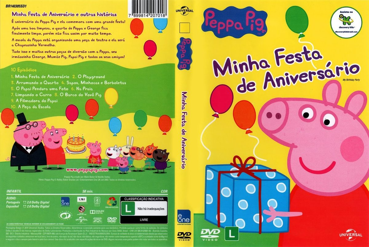 peppa pig dvd português 12 dvds 170 episódios. Carregando zoom.