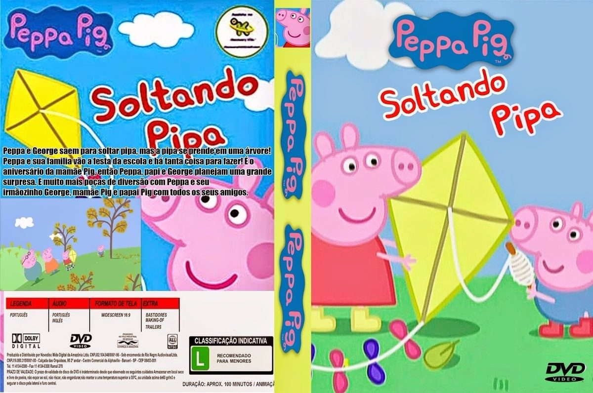 peppa pig dvd português 9 dvds 140 episódios frete grátis. Carregando zoom.