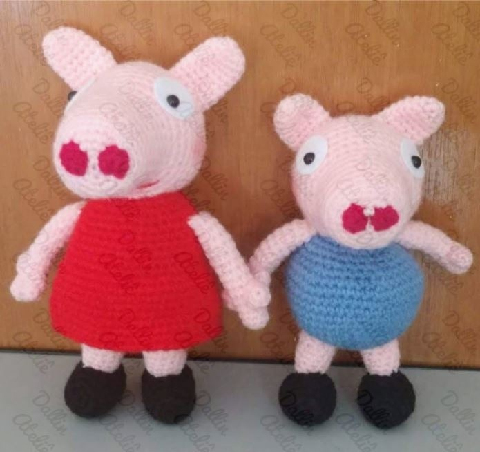 Peppa Pig #dibujos #cartoons #amigurumi #crochet #ganchillo ...   654x695