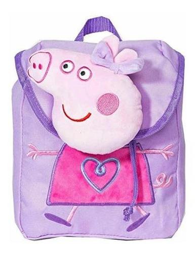peppa pig fashionable girls mochila plush small bag purple.