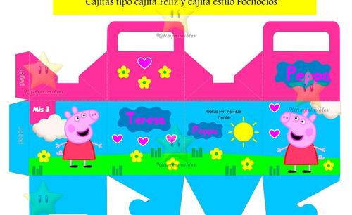 peppa pig kit imprimible peppa pig 100% editable casita pepa
