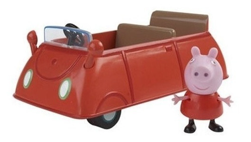 peppa pig, la cerdita vehiculos con figura