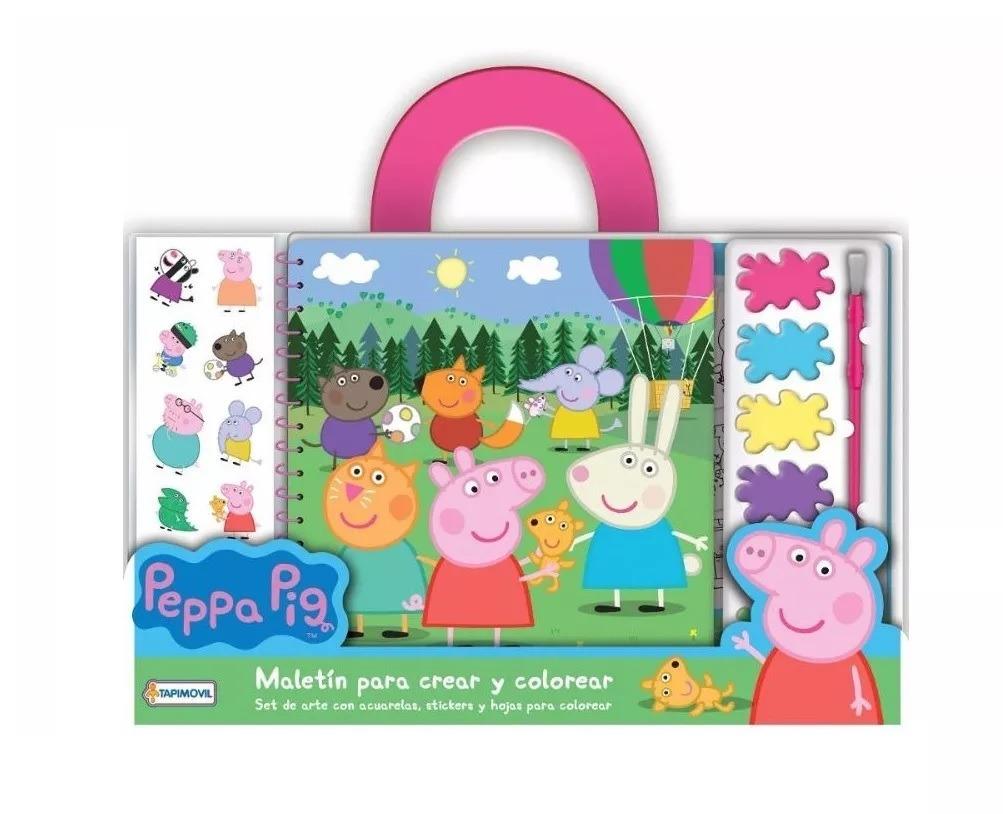 Peppa Pig Maletin Crear Pintar Y Colorear Set De Arte - $ 259,00 en ...