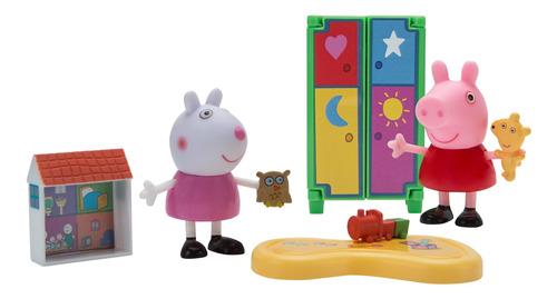 peppa pig pequeñas habitaciones playdate fun playset.