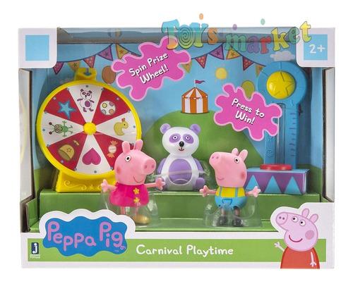 peppa pig plaza con juegos dino park george muñecos suzy