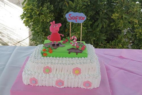 peppa pig porcelana fria cumpleaños decoracion torta adorno