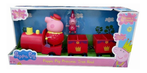 peppa pig princesa tren real muñeca