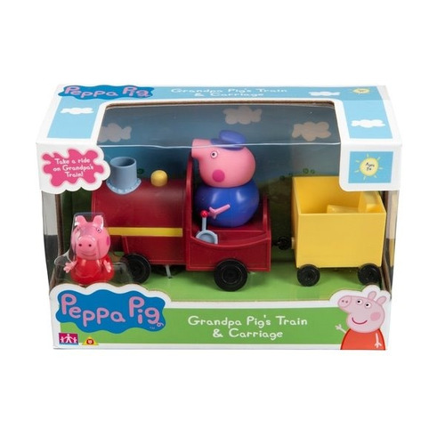 peppa pig! tren del abuelo pig + peppa